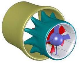 Mixer/injector wind turbine