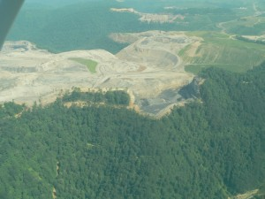 Aerial shot of Samples Mine at Kayford Mountain