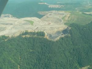 Aerial shot of Samples Mine at Kayford Mountain