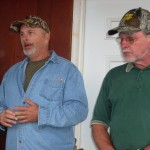 Bob Dickerson, Pritchard Mining employee, on the left