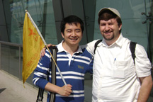 Harry and me outside the Xi'an airport