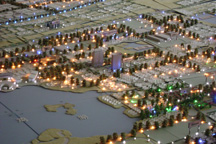 A light-up map of the Suzhou Industrial Park