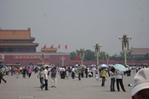 Tiananmen Square, looking northward toward the Tian'an Gate.