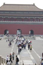 One of the open plazas in the outer section of the Forbidden City
