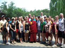 My students, colleagues, and I had a chance encounter with a Tibetan monk (pictured center).