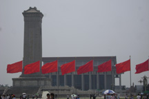 In Tiananmen Square, looking south toward Mao's Tomb
