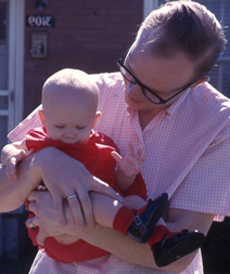 Cat with Daddy, 1962