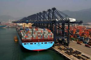 Cargo ship in China