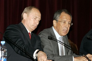 Russian President Vladimir Putin and Foreign Minister Sergey Lavrov. Courtesy Wikimedia Commons.