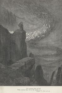 The tempest of the lustful, by Gustave Dore (Project Gutenberg)