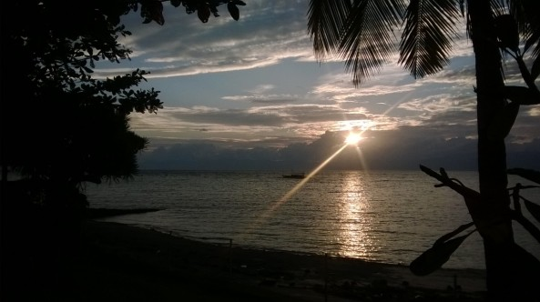 Sunset, Dacozy Beach Resort, Moalboal, Philippines