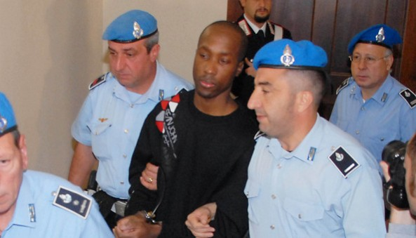 Rudy Guede, convicted in the murder of Meredith Kercher.