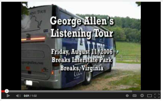 George Allen Macaca Listening Tour