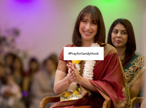 Samantha Cameron really cares about America - #PrayForSandyHook
