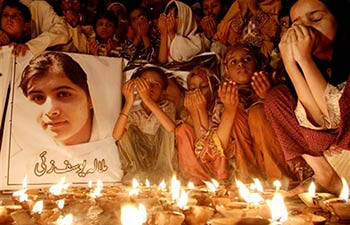 Vigil for Malala 2012 courtesy of AsiaNews.it