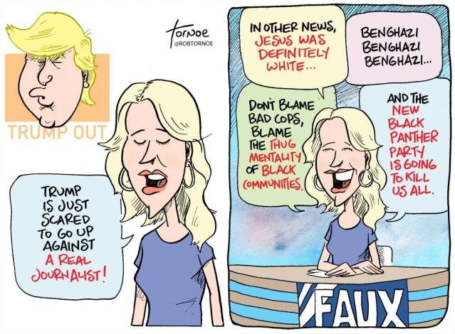 Ron Tornoe Megyn Kelly cartoon