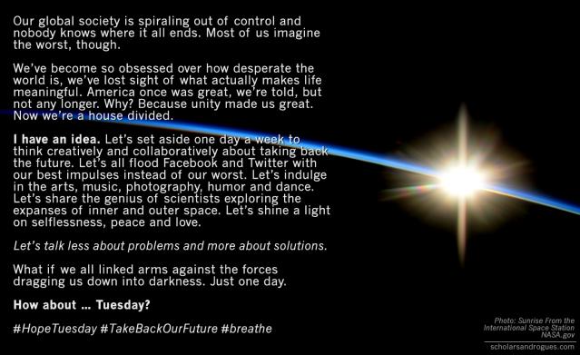 #hopetuesday #TakeBAckOurFuture #breathe