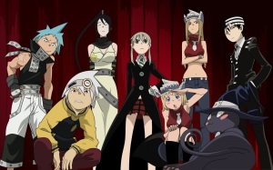 Soul Eater - the meisters and weapons (plus the annoying transforming cat)