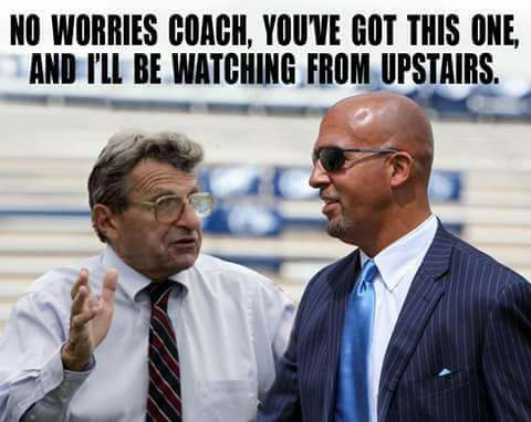 """Pro-Paterno photoshopped image taken from Facebook group """"Penn State - Put the Joepa Statue Back Where it Belongs"""""""