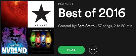 Doc's Best CDs of 2016 Playlist