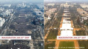 Comparison of Inauguration crowds, 2009 to 2017 (Image Credit: PBS)