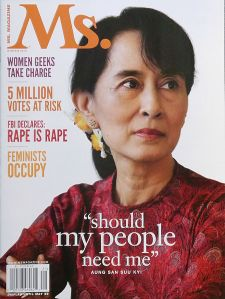 Aung San Suu Kyi is our Trump Asshole of the Year for 2017 (image courtesy Liberty Media for Women, LLC)