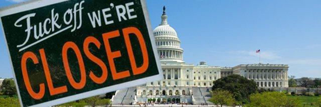 Government-shutdown - Fuck off we're closed