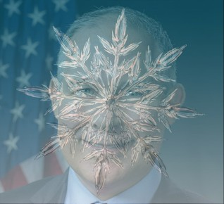 Scott Pruitt with snowflake superimposed