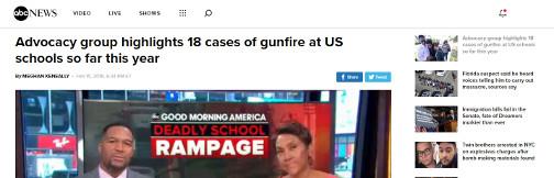 Screenshot of ABC News
