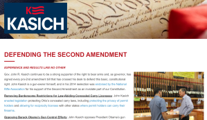 John Kasich on the Second Amendment