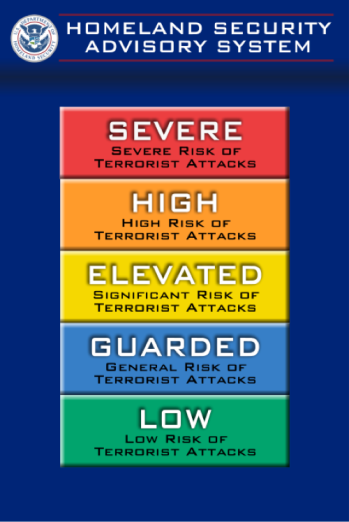 homelad security advisory system poster