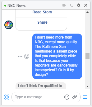 NBC news chat screenshot