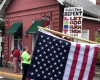 Red Hen Restaurant, protest