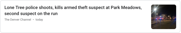 Officer involved shooting euphemism
