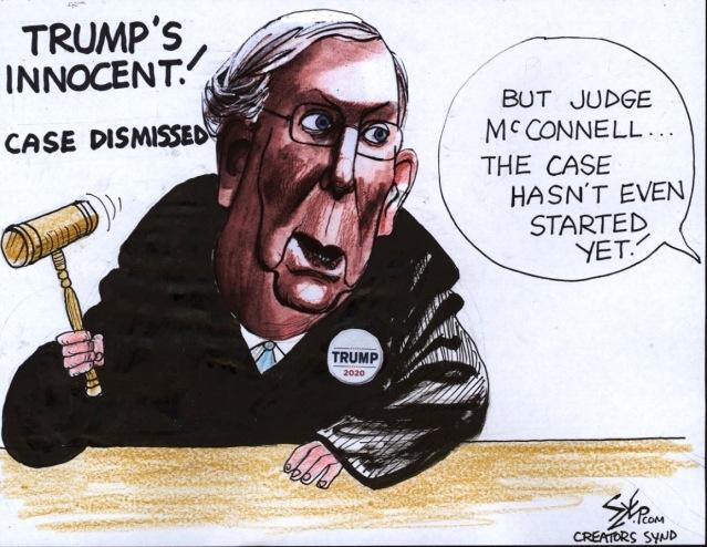 McConnell impeachment by Paul Szep