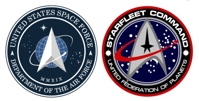 US Space Force logo Star Trek